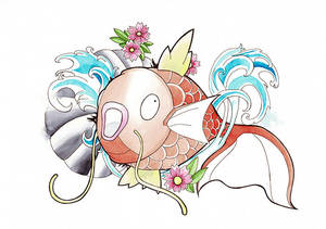 Koi fish magikarp from pokemon