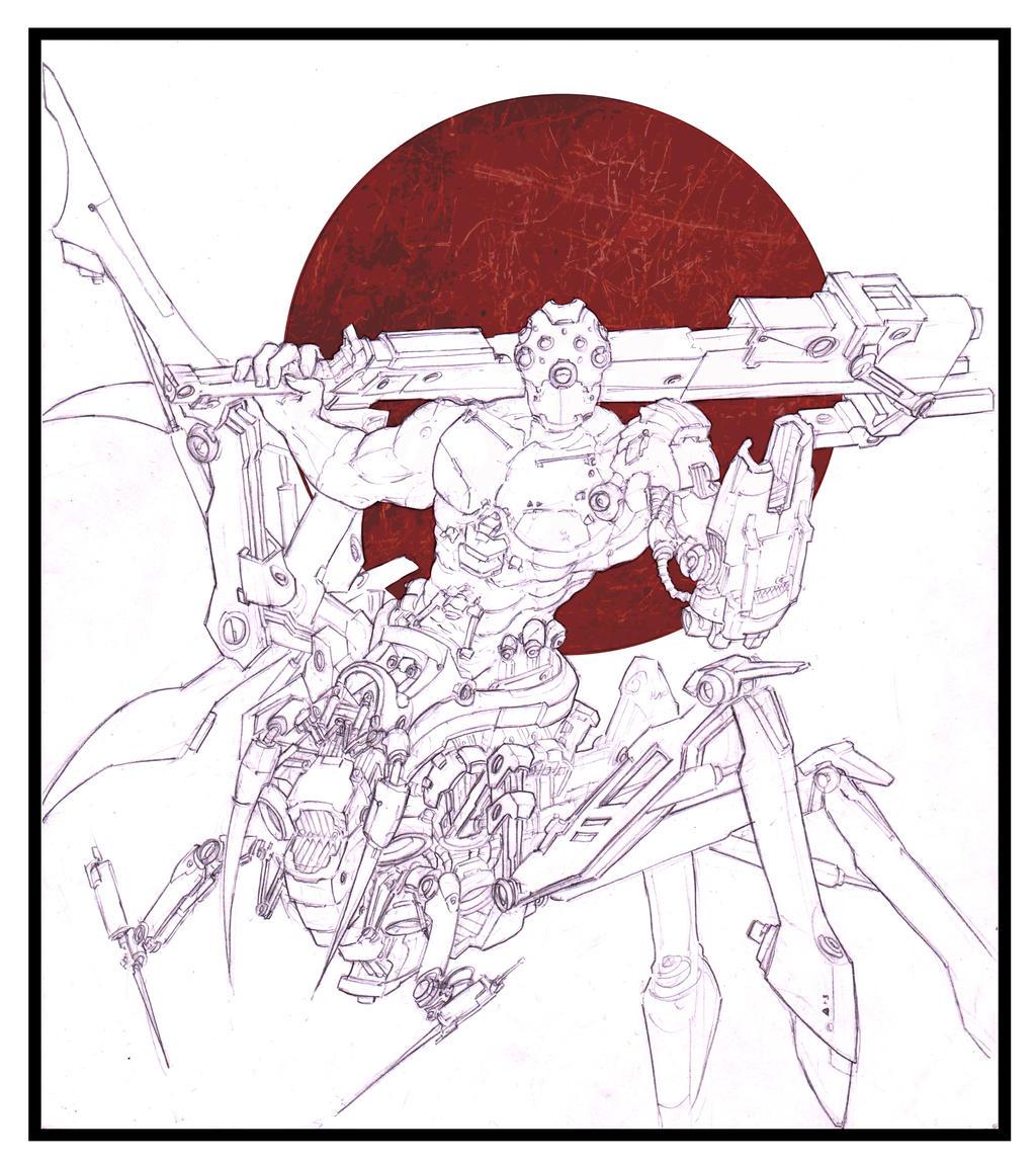 Hexapod Cyborg by DavidMusique