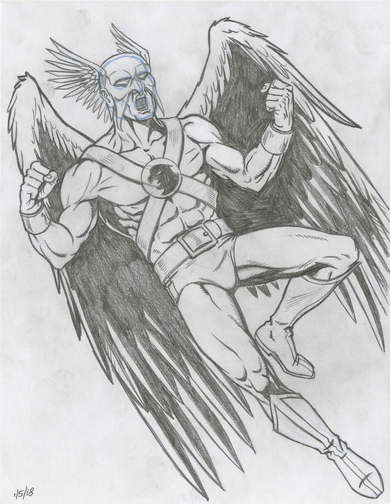Hawkman Pencil Sketch by NeilRiehle