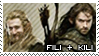The Hobbit: Kili and Fili Stamp by immature-giraffe