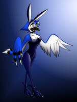 Blue Jay Bunny by TheLoneCrow