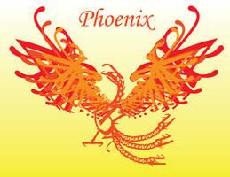 Typography Phoenix by TheLoneCrow