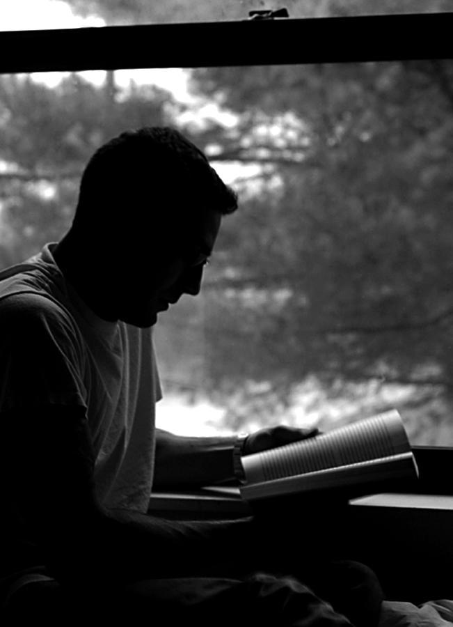 In Quiet Study - Self Portrait by seafaringgypsy
