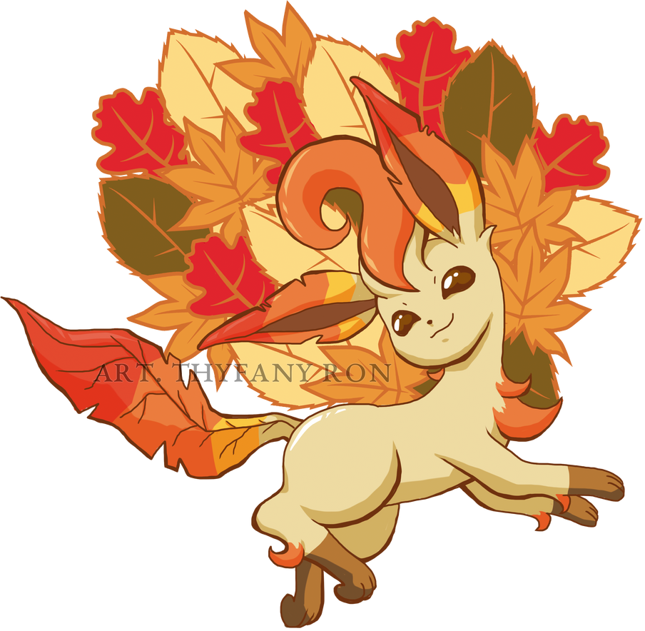Leafeon autumm by NearTARC