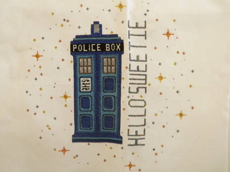 TARDIS Cross Stitch-- HELLO SWEETIE