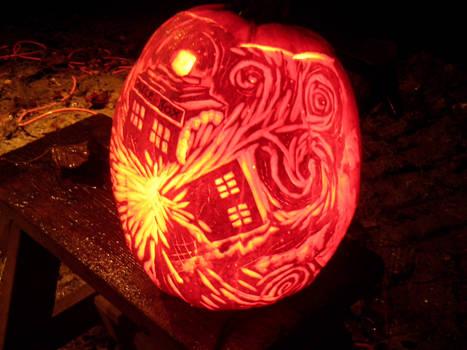 Exploding Pumpkin TARDIS (Side 1)