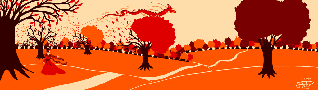 The dragon of fall by Saejan