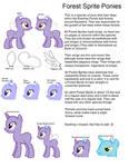 Species Ref-Forest Sprite Ponies by Strawberry-T-Pony