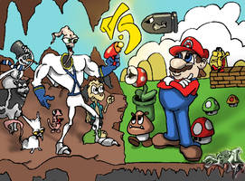 mario v.s earthworm jim by A-T-G-4