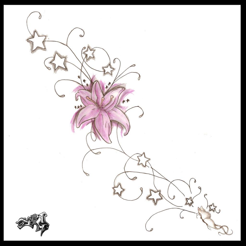 Side Flower Tattoo Designs: Side Tattoo Design By A-T-G-4 On DeviantArt