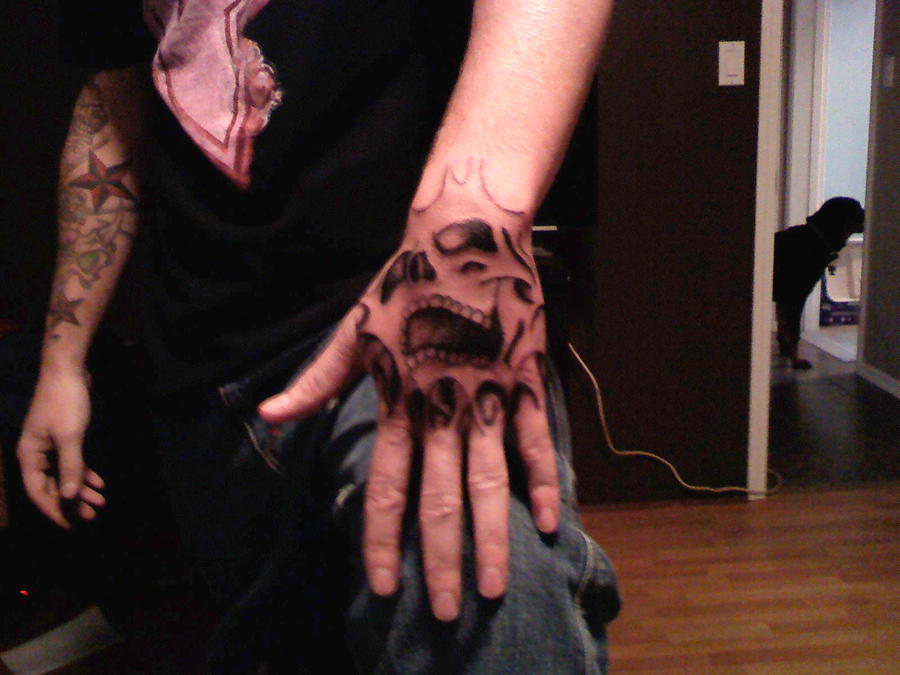 self hand tattoo WIP by A-T-G-4