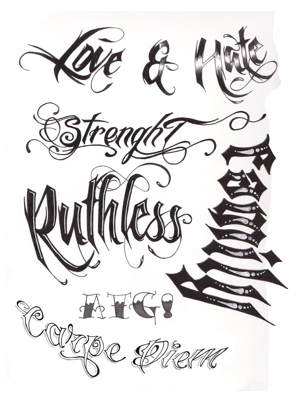 Tattoo script by a t g 4 on deviantart Script art
