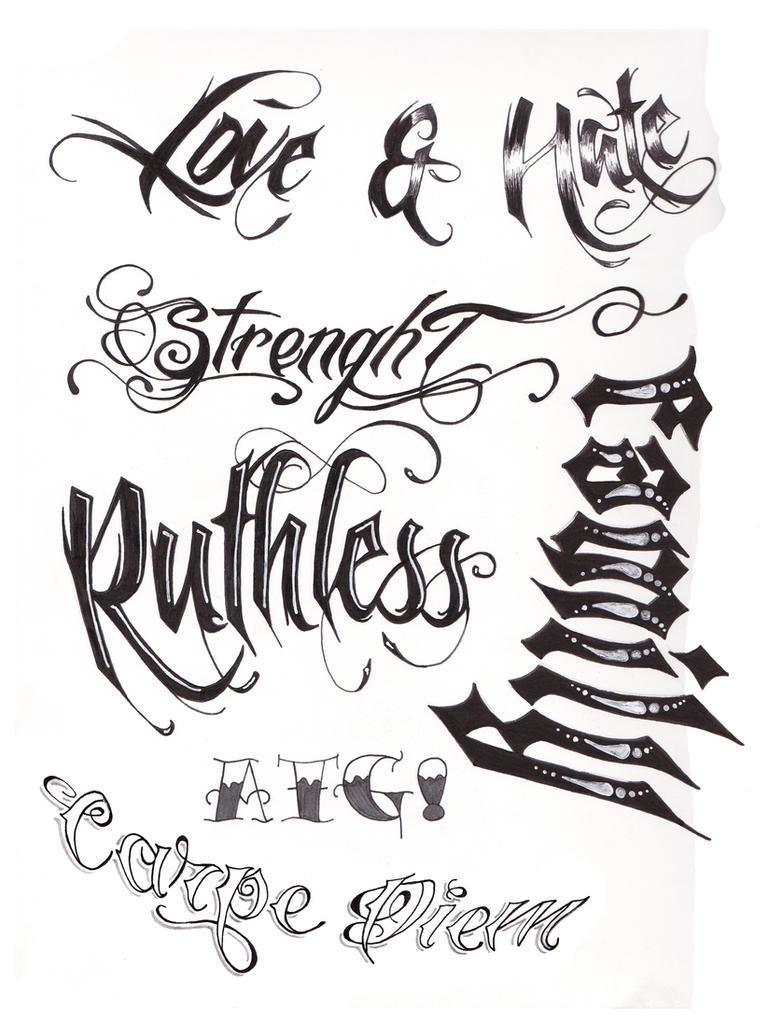 Tattoo Letting Designs Stencil