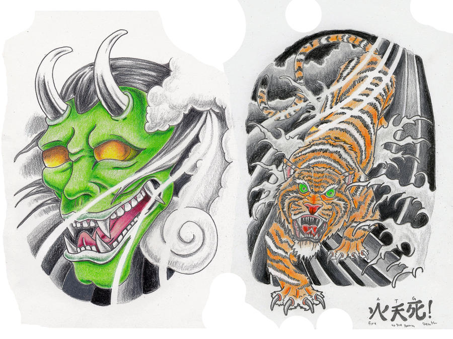 Japanese flash by a t g 4 on deviantart for Japanese tattoo flash