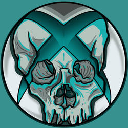 xboxSkullallTeal by A-T-G-4