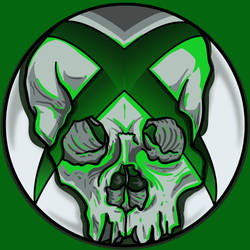 xboxSkullGreen by A-T-G-4