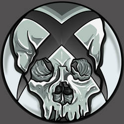 xboxSkullGrey by A-T-G-4