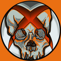 xboxSkullOrange by A-T-G-4
