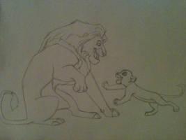 Mufassa and Simba by megacraze