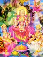 Lakshmi, Parvati and Saraswati by Valleysequence