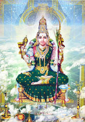 Raja Rajeswari the Universal Mother by Valleysequence