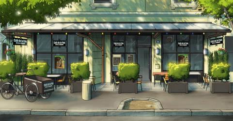 Cafe de la paix day time by yannou