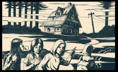 Sketchbook_Scary_House by yannou