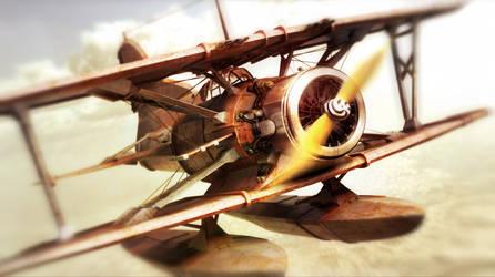Chasing airplane by Togman-Studio