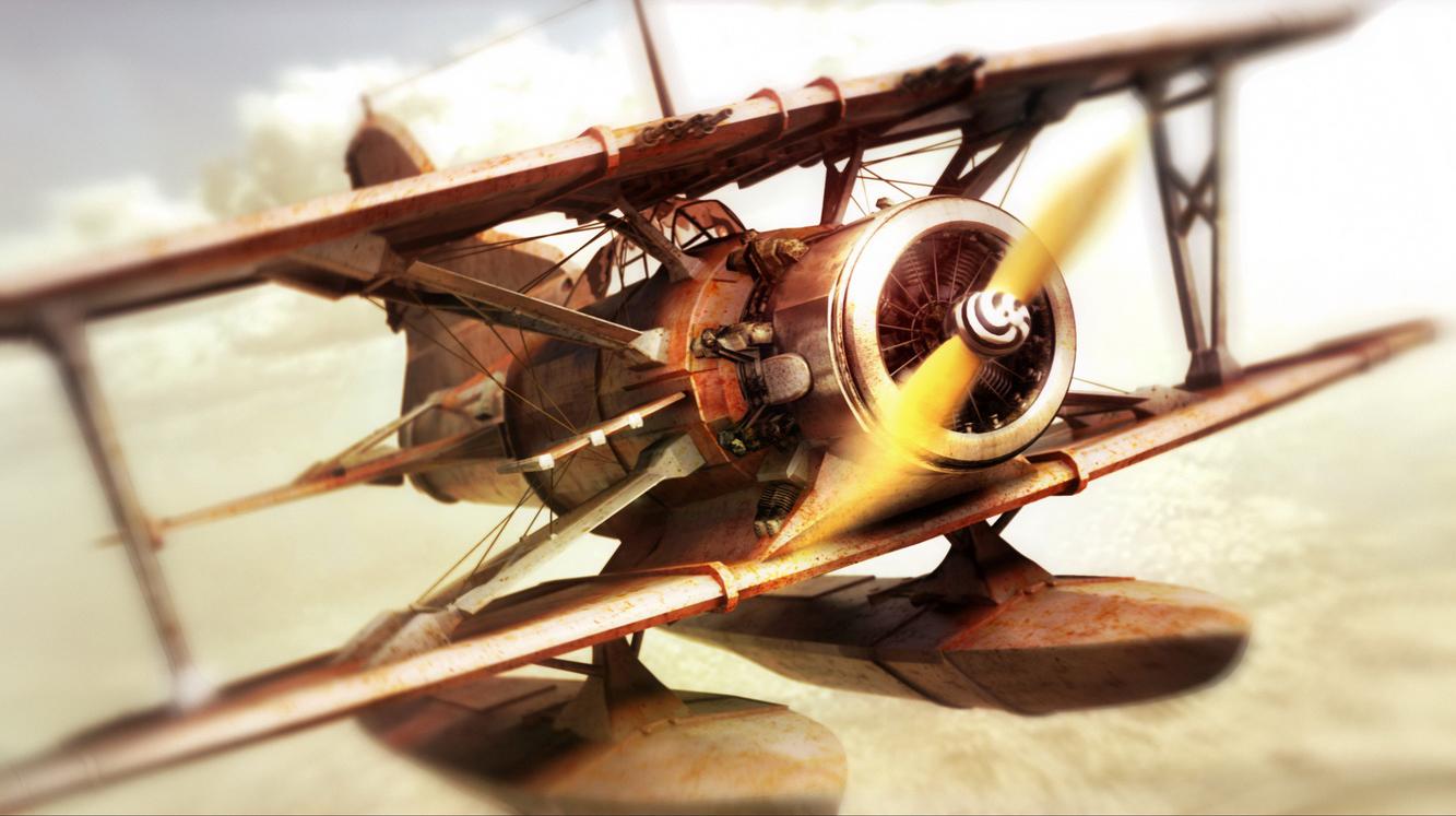 Chasing airplane