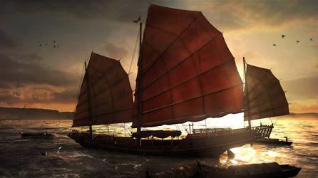 Mekong Dawn II by Togman-Studio