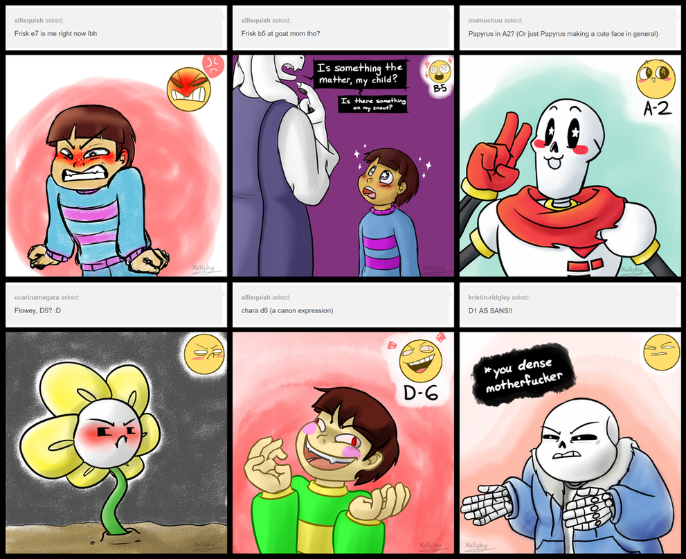 undertale_expressions_by_xellphy d9p5rjx undertale expressions by xellphy on deviantart