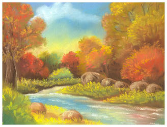 Autumn stream by jkBunny