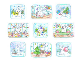 December bunnies part 2 by jkBunny