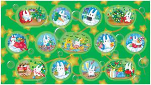 December bunnies part3_digital by jkBunny