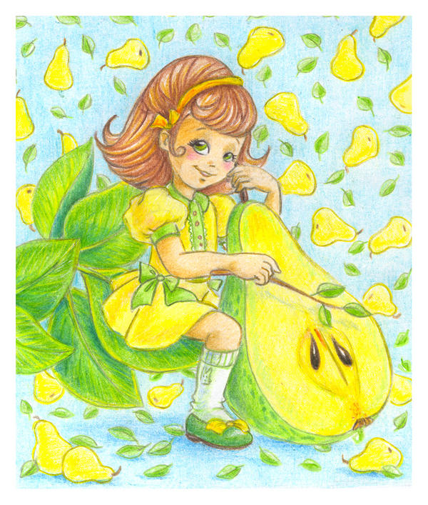 Pear fairy by jkBunny