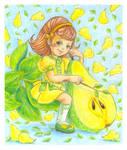 Pear fairy by jkBunny