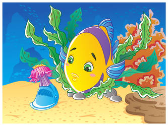 A curious little fish vector by jkBunny