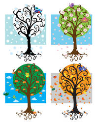 Birds and seasons by jkBunny