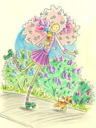 Spring girl 3 by jkBunny