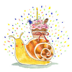 Birthday snail by jkBunny