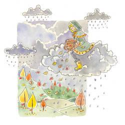 Fall rain by jkBunny