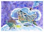 Hedgehog and Christmas by jkBunny