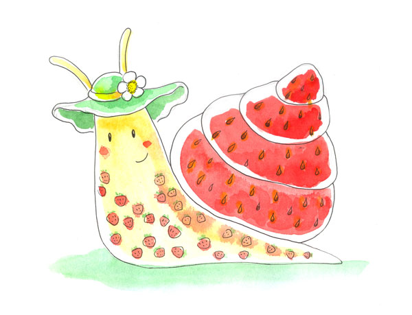 Strawberry snail by jkBunny
