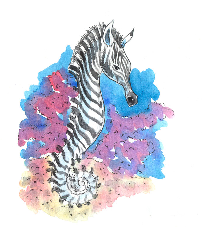 A sea zebra-baby by jkBunny