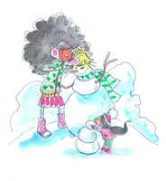 Snowman by jkBunny