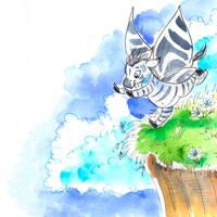 Zebra Butterfly 2 by jkBunny