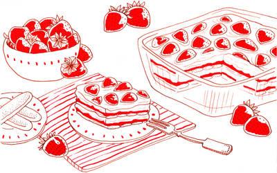 Strawberry tiramisu by jkBunny