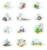 Christmas bunny again by jkBunny