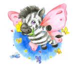Zebra-butterfly