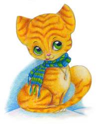 Red kitten by jkBunny